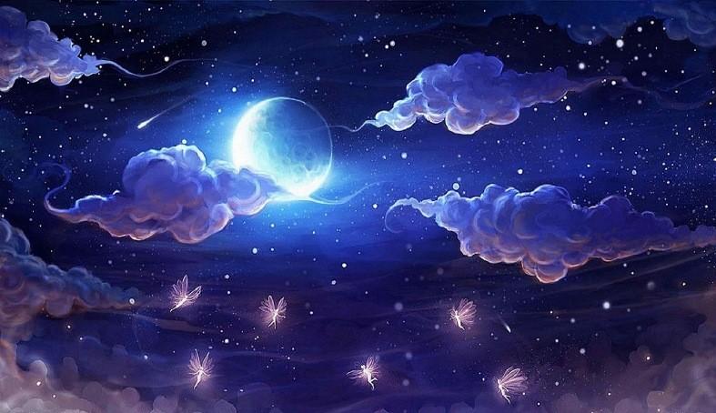 ночь, сон, луна