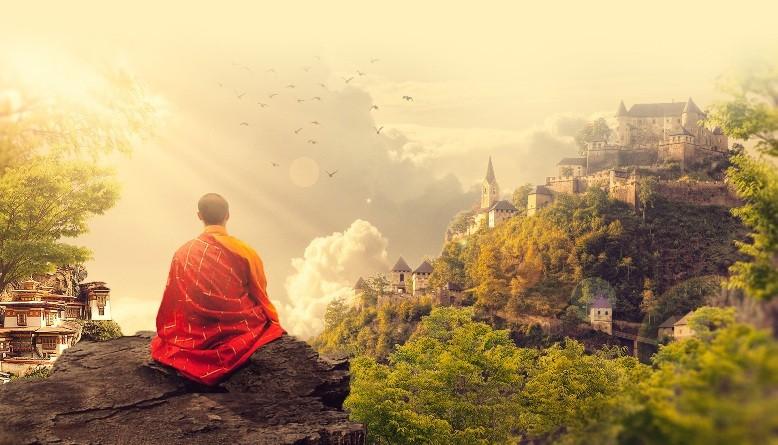 медитация, монах