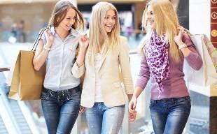 гулять с подругами по магазину