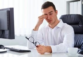 работа за компьютером, усталость