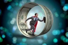 бег по кругу за деньгами