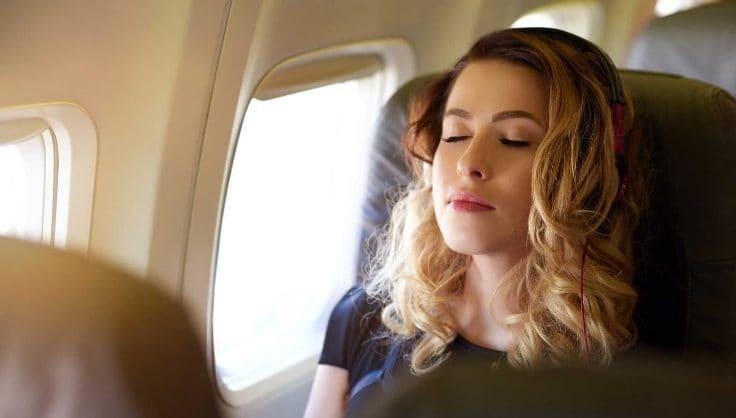 спокойствие во время полета на самолете