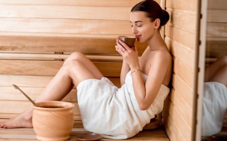 пить чай в бане