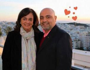 Анита Мурджани с мужем