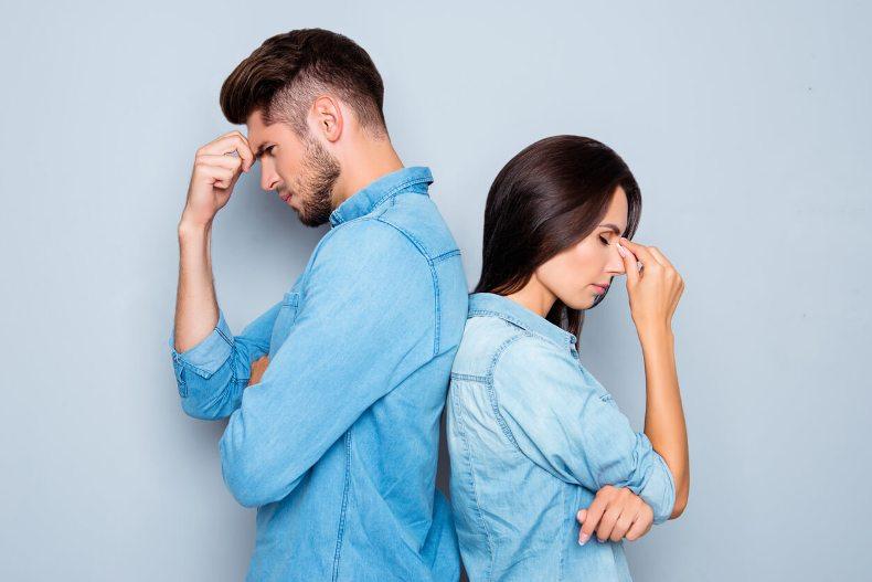 муж и жена в ссоре